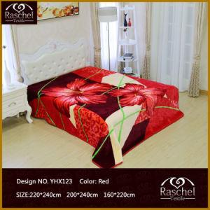 Mink Blanket of 100% Polyester Korean Soft Raschel Style Embossed Blanket