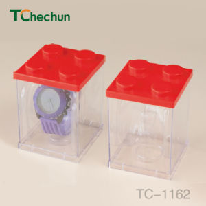 Both Sides and Four Sides Transparent Square to Build Model Watch Plastic Box pictures & photos