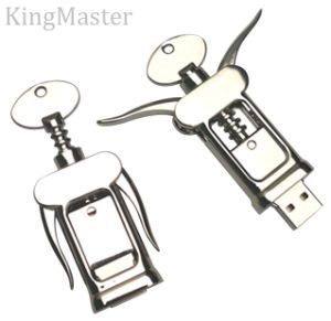 King Master Grape Wine Metal Bottle Opener USB Flash Drive pictures & photos