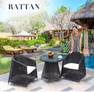 Hot Sales Factory Rattan /Wicker Table Chair Set / Outdoor Leisure Furniture Coffee Shop Table Chair Set (Z315) pictures & photos