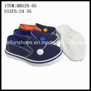Low Price Children Injection Canvas Shoes Casual Shoes Customized (HH520-05) pictures & photos
