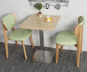 Customized Small Aluminum Wooden Dining Table (NK-DTB096)