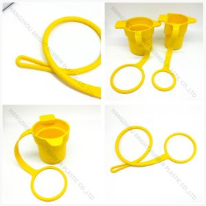 Silicone Rubber Yellow Cup with Ring Customized in High Quality pictures & photos