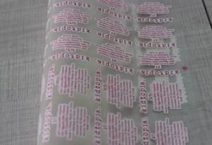 Clothes Care Size Heat Label Heat Transfer pictures & photos