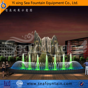 Program Control Pool Fountain with Stone Sculpture pictures & photos