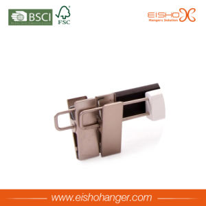 Good Quality Wooden Pant Skirt Hanger with Two Clips (L063) pictures & photos