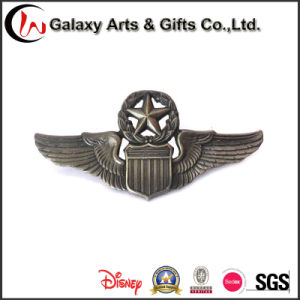 Factory Price Hot Selling Antique Nickel Badge for Eagle Wings pictures & photos