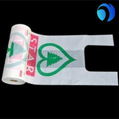 Quality OEM Manufacture HDPE Biodegradable Plastic T Shirt Bags on Roll Manufacturer pictures & photos