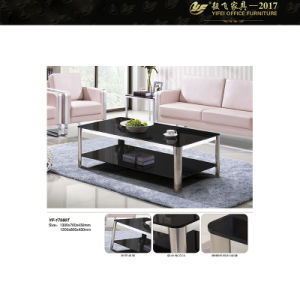 Metal Frame Glass Top Coffee Table Square Modern Coffee Table Glass Top End Tables (YF-170080T)