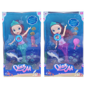 Plastic Fashion Mermaid Baby Doll Toy with Light & Music (H9665027) pictures & photos