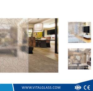 Clear Acid Etched Door Decorative Glass pictures & photos
