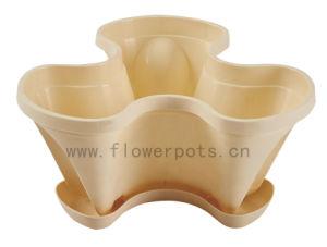Stackable Plastic Flower Pot (KD3321) pictures & photos