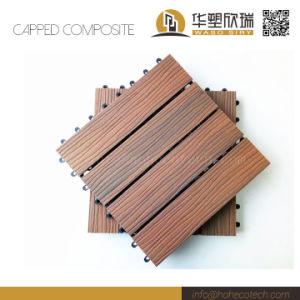 New Co-Extrusion WPC Wood Plastic Composite Deck DIY Tile pictures & photos