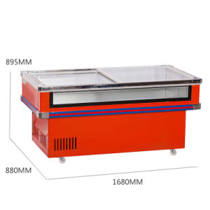 Hot Sale Refrigerated and Frozen Front Clear Seafood Freezer pictures & photos