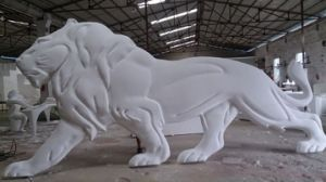 Stainless Steel Lion Sculpture for Interior Wall Decoration, Metal Sculpture of Cultural Square pictures & photos