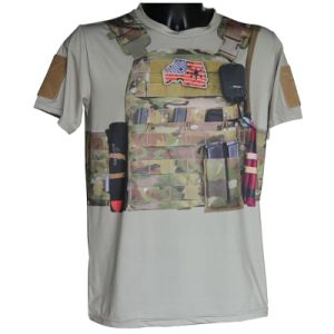 Tactical Outdoor Sports T-Shirt Military Kryptek Camo T-Shirt Fashion pictures & photos