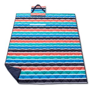 Autum Stripe Portable Folded Bag Oxford Picnic Blanket & Rug