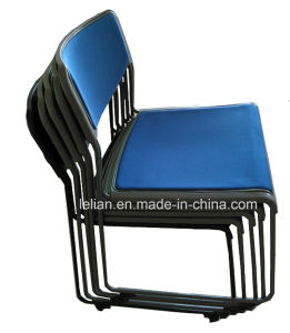 Good Quality School Row and Gang Stack Chair with Metal Leg (LL-0070) pictures & photos