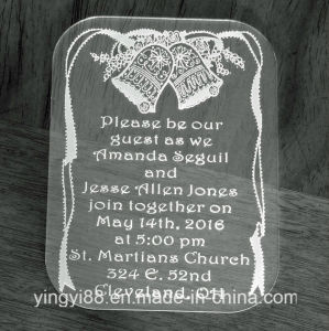 Personalized Acrylic Wedding Invitations, Special Event Invitations pictures & photos