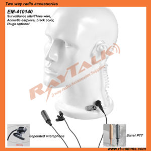 Walkie Talkie 3 Wires Surveillance Earpiece for Kenwood Tk220/Tk240/Tk248/Tk270 pictures & photos