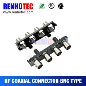 Amphenol Plastic Waterproof 4 Port BNC Female PCB Connector pictures & photos