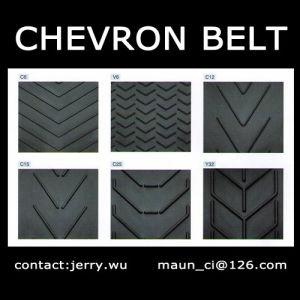 Cheap Patterned Chevron Rubber Conveyor Belt pictures & photos