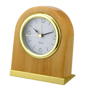 Silent Wooden Table Alarm Clock for 5 Star Hotel pictures & photos