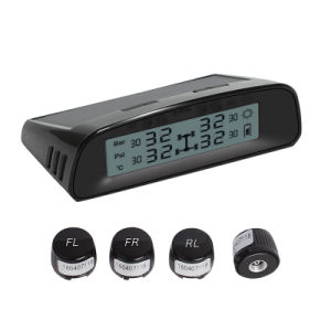 Car Wireless TPMS Tire Pressure Monitoring System Solar LCD Psi Bar Car TPMS pictures & photos