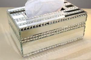 100% Handmade High Quality Crystal Rhinestone Diamond Paper Towel Holder Napkins Case Tissue Box (TB-009) pictures & photos