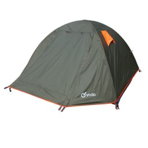 Upgraded Waterproof 2-4 Person Backpacking Tent with 2 Doors and Rainfly
