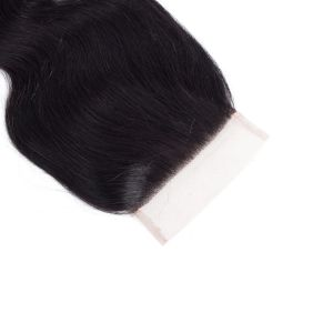 Wholesale Top Quality Natural Part Body Wave 100% Peruvian Human Hair Lace Closure pictures & photos