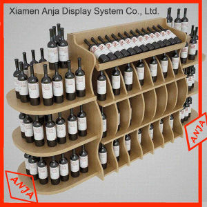 Wood Wall Wine Display Rack Cabinet for Shop pictures & photos