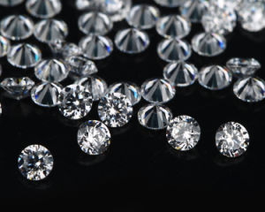 Aaaaa CZ Loose Synthetic Gemstone Round Brillant Cut White Cubic Zircon pictures & photos