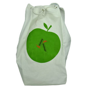 Stand up Round Bottom Canvas Packing Bag with Drawstring pictures & photos