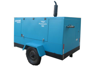 Diesel Engine Driven Mobile Air Portable Screw Compressor (PUD26-20) pictures & photos