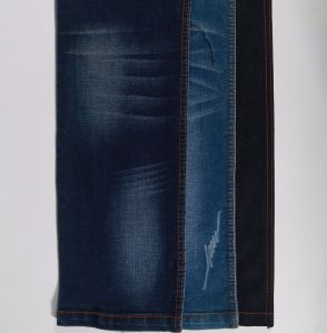 Dark Blue Twill Cotton Polyester Spandex Denim Fabric 9oz pictures & photos