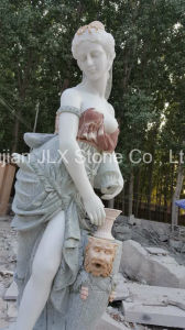 Garden Outdoor Decor Marble Lady Statue with Pool pictures & photos