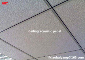 Fireproof Acoustic Mineral Fiber Ceiling Panel Acoustic Panel Decoration Wall Panel pictures & photos