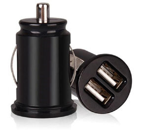 Fast Quick Mini Bullet Dual USB 2-Port Car Charger Adapter pictures & photos