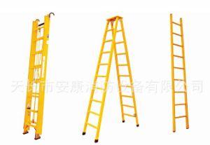 8m Aluminium Alloy Rung Elongating Type Hard Ladder pictures & photos