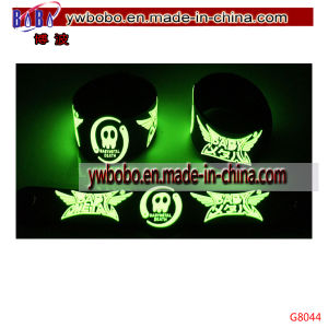 Christmas Gift Glow in The Dark Rubber Bracelet Wristband Silicone Bracelet (G8044) pictures & photos