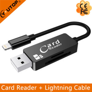 Microsd/SD Card Reader + Lightning Data Charging Cable (YT-RC002) pictures & photos