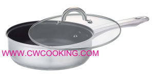 Stainless Steel Frypan with Glass Lid pictures & photos