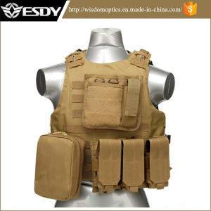 Military Paintball Combat Soft Gear Molle Airsoft Protective Tactical Vest pictures & photos