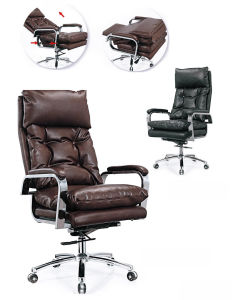 Seat Pushable Exentionable PVC Leather Adjustable Chair (HX-NS6C023) pictures & photos