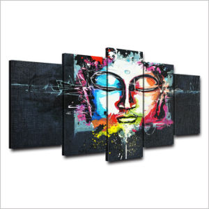 HD Printed Buddha Painting on Canvas Room Decoration Print Poster Picture Canvas Mc-039 pictures & photos