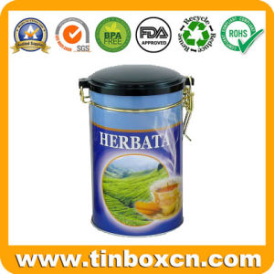 Custom Round Tea Tin with Airtight Inner Lid and Rivet, Tea Caddy, Metal Tin Box, Food Packaging Tin Can pictures & photos