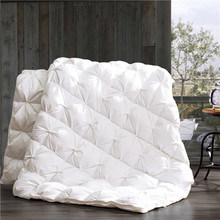 Home Textile 90% White Duck Down Duvet with Piping pictures & photos