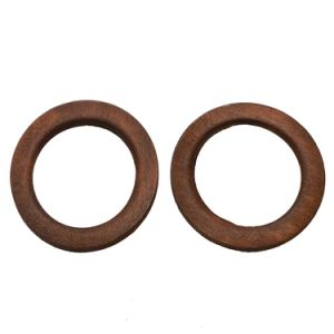 Fashion Jewelry Circle Brown Natural Wood Stud Earrings pictures & photos