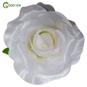 White Artificial Silk Flower Head pictures & photos